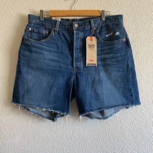 Levi's 501 Original High Rise Mid High Shorts 33